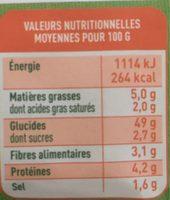 Le Grand - Pain Bio - 350 G - Valpibio - Voedingswaarden