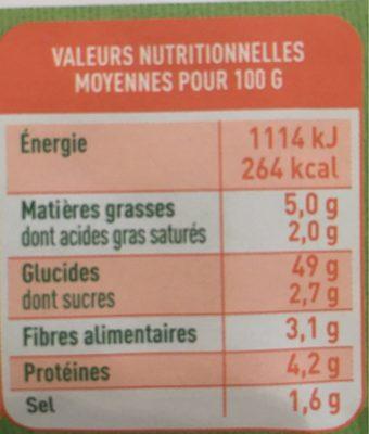 Le Grand - Pain Bio - 350 G - Valpibio - Informations nutritionnelles - fr