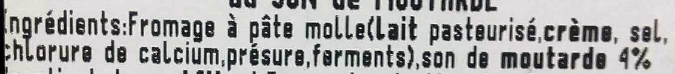 Délice de Pommard au son de moutarde - Ingredients - fr