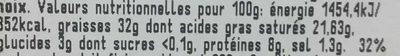 Délice de Pommard au son de moutarde - Nutrition facts - fr