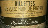 Rillettes de porc noir de bigorre - Ingrediënten