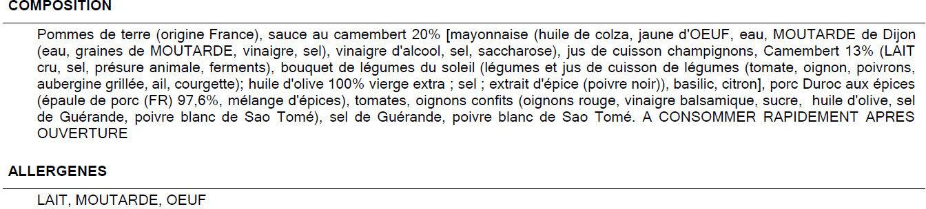 Salade normande - Ingredienti - fr