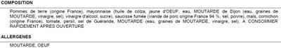 Salade campagnarde - Ingredients - fr