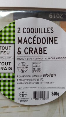 2 Coquilles Macédoine & crabe - Product
