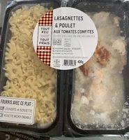 Lasagnettes et poulet aux tomates confites - Product