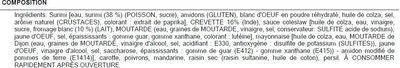 Salade de crevettes - Ingrédients
