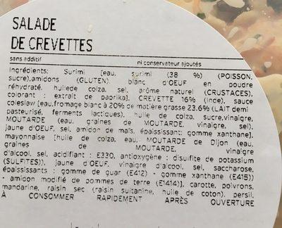 Salade de crevettes - Ingredienti - fr