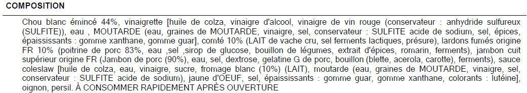 Salade comtoise - Ingredienti - fr