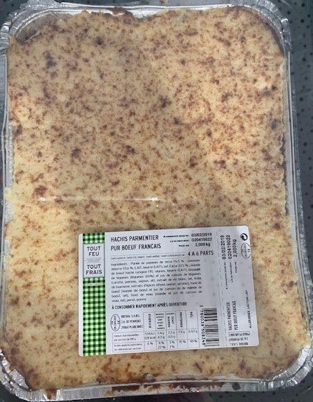 Hachis parmentier pu boeuf français - Produit