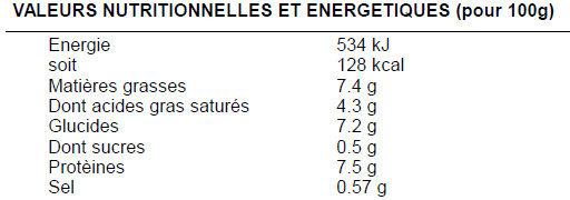 Hachis parmentier pu boeuf français - Informations nutritionnelles