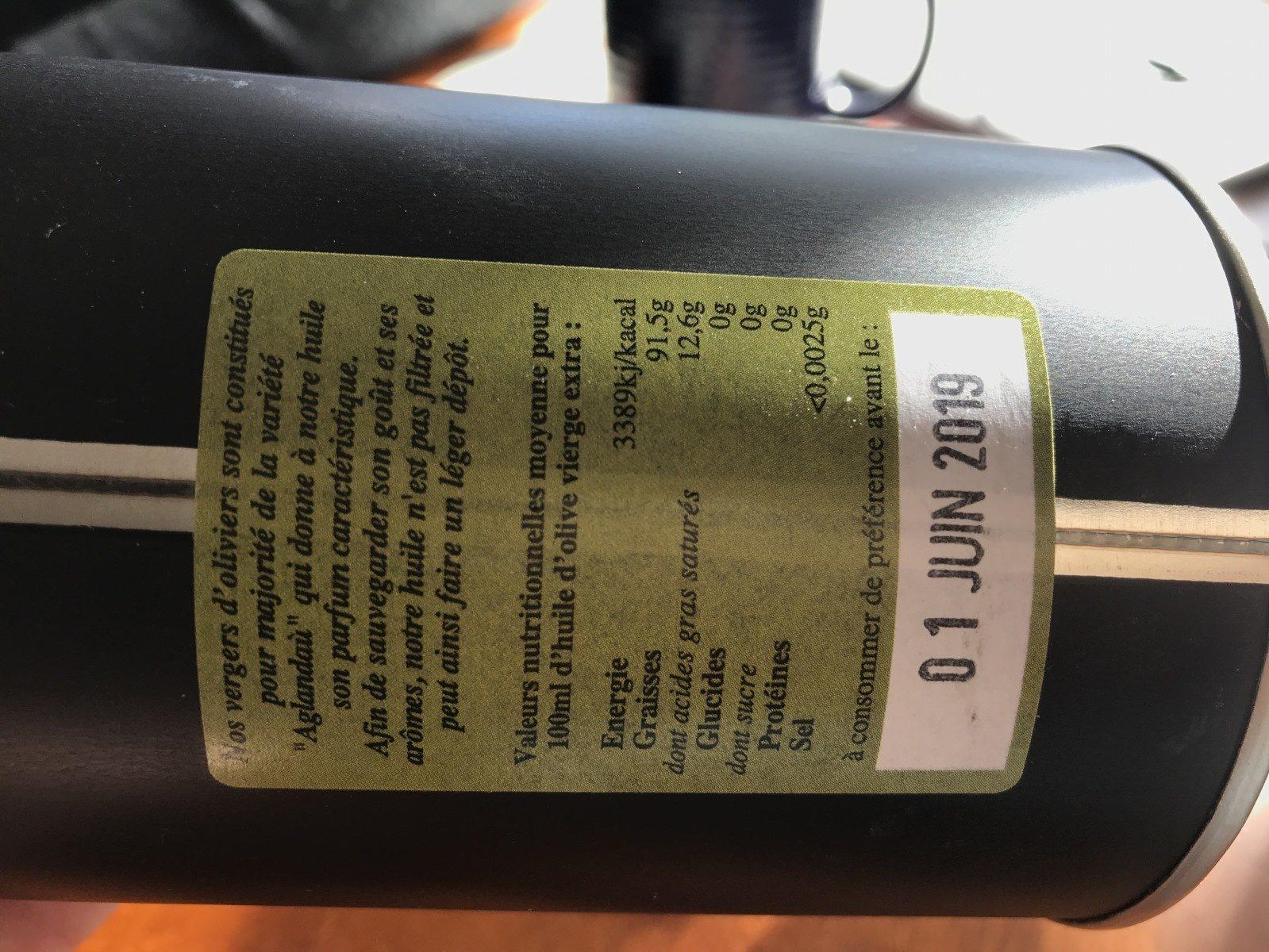 Huile d'olive vierge extra - Ingrédients - fr