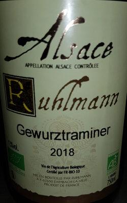 Vin blanc bio d'Alsace - Product