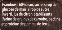Sorbet Framboise - Ingredients