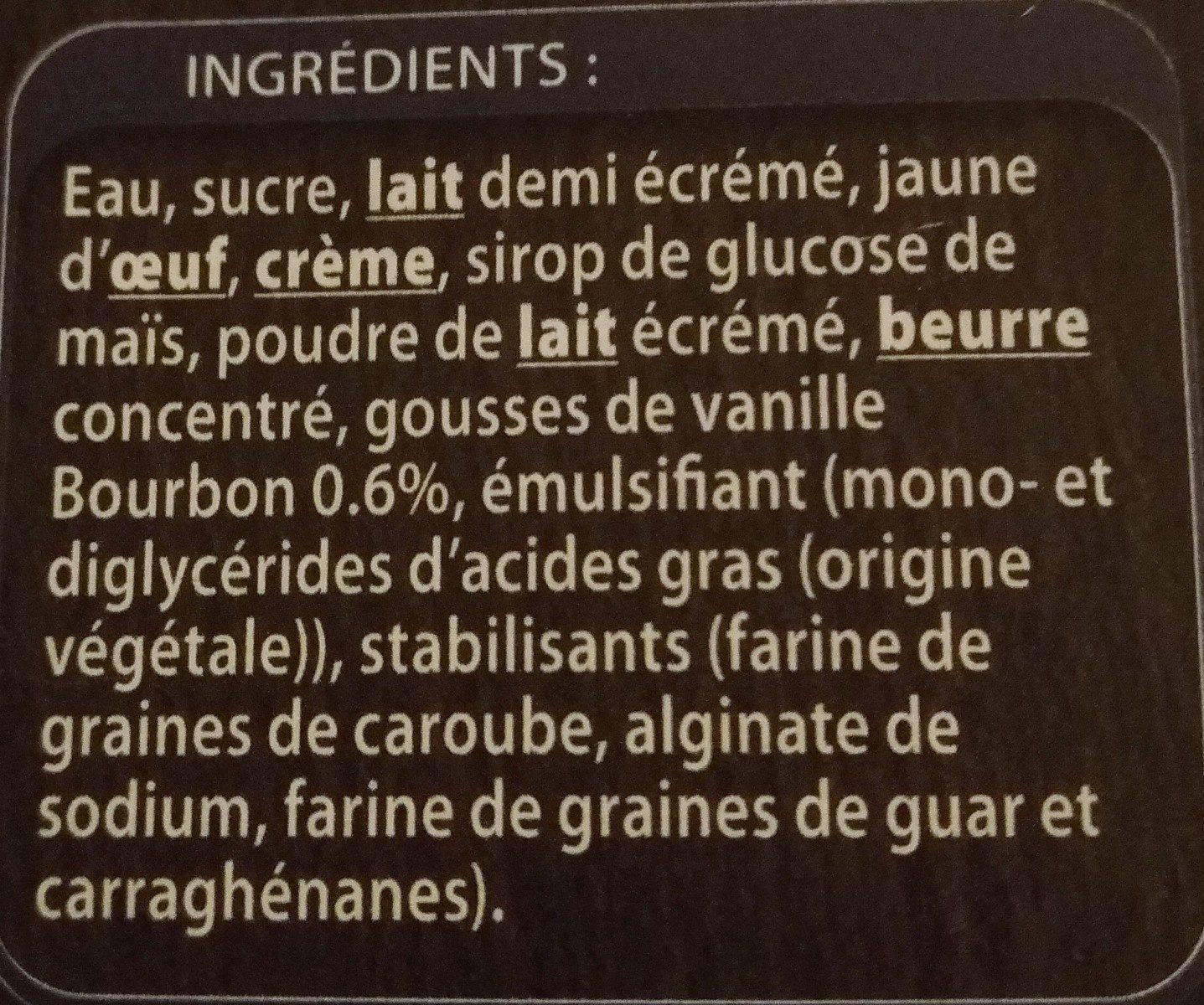 Crème glacée Vanille - Ingredients - fr