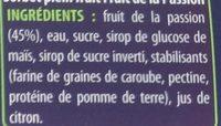 Sorbet plein fruit Fruit de la passion (45%) 750 - Informations nutritionnelles
