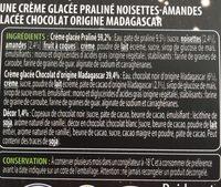 Creme glacée praliné noisette amande - Ingredients