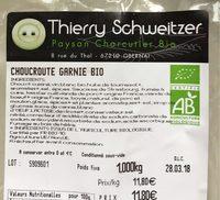 Choucroute garnie bio - Produit - fr