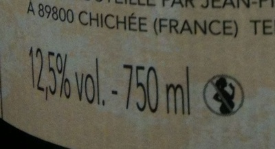 Petit Chablis 2010 - Nutrition facts