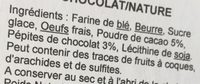 Le Duo Chocolat Nature - Ingredientes