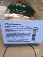 Le Croquet'on du Berry'chon Amande - Nutrition facts