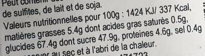 Le Croquet'on du Berry'chon Noix - Nutrition facts