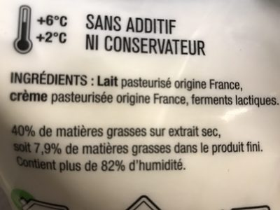 Le fromage blanc des limousins - Ingrediënten