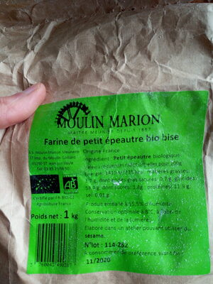 Farine de petit épeautre bio bise - Recycling instructions and/or packaging information - fr