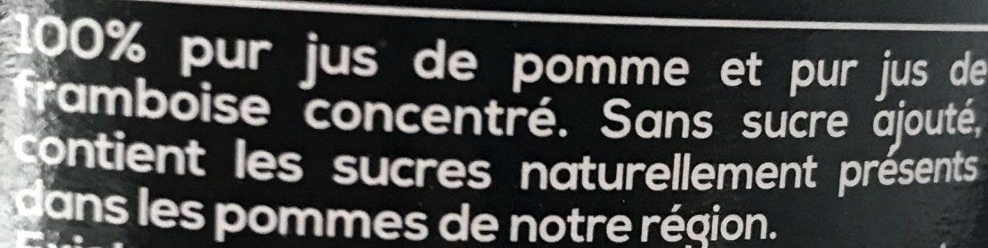 Pom'Framboise - Ingredientes