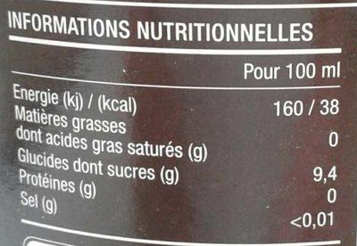 Pom'Framboise - Información nutricional