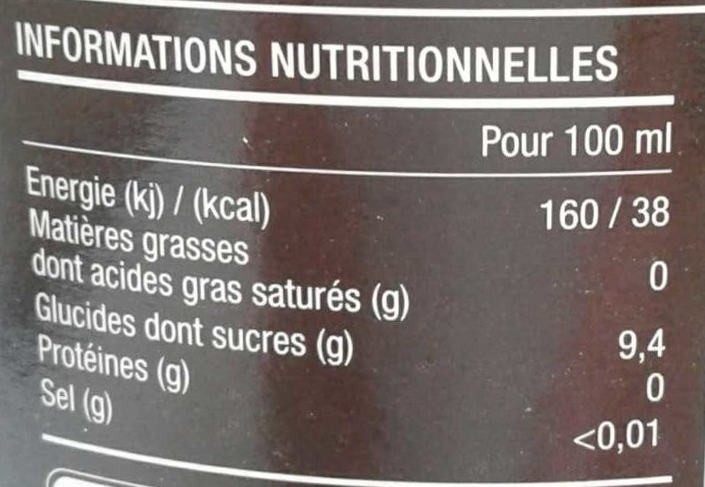 Pom'Framboise - Nutrition facts