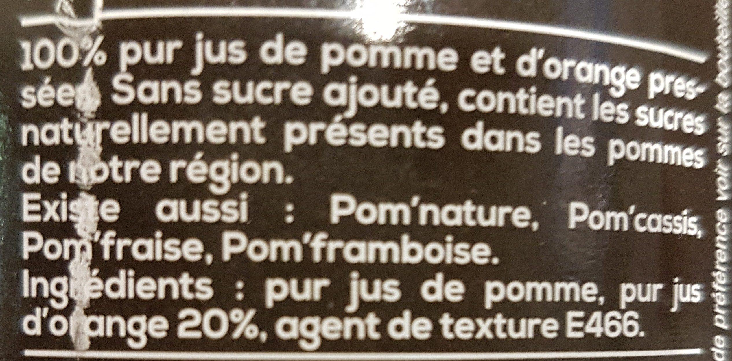Pom'orange - Ingrédients - fr