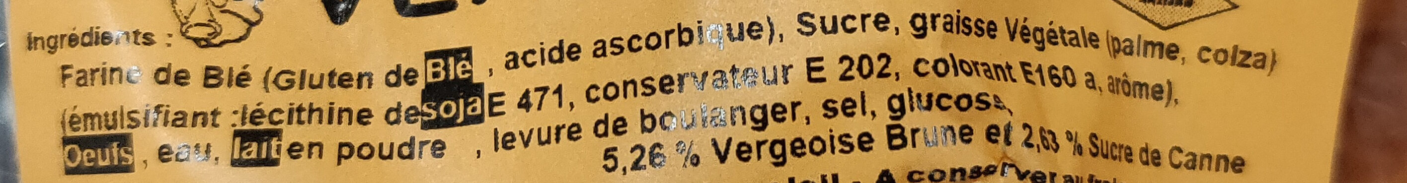 Gaufres maison vergeoise - Ingrédients - fr