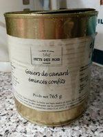 Gesiers de canard émincés confits - Product