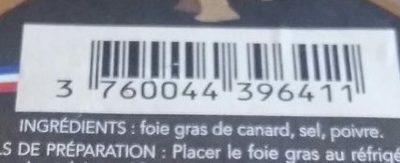 Foie gras de canard - Ingrediënten