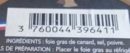 Foie gras de canard - Ingrediënten - fr