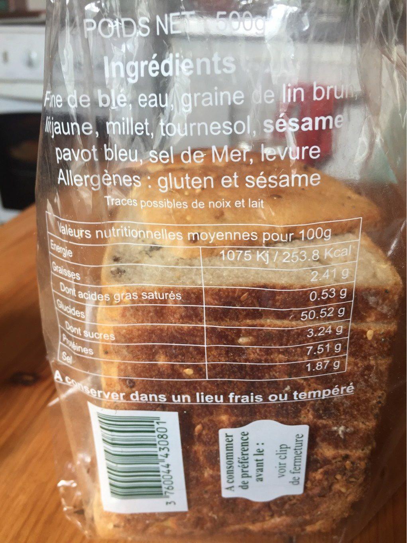 Calories un pain aux cereales