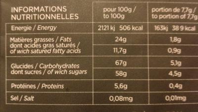 Le Quernon d'ardoise - Informations nutritionnelles