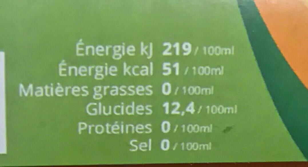 Pur Jus Pommes-Poires Bio - Valori nutrizionali - fr