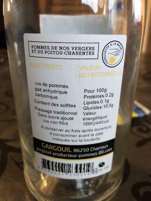 Jus de pommes pétillant - Ingrédients - fr