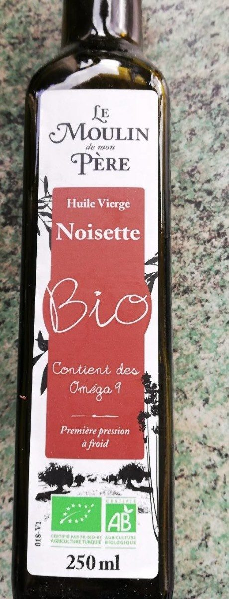 Huile vierge noisette - Product