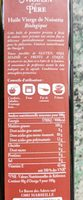 Huile vierge noisette - Ingrediënten