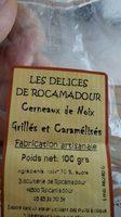 Cerneaux de noix grillées et caramélisées - Ingrediënten
