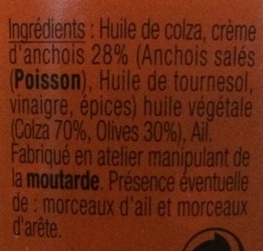 Anchoïadine - Ingrédients - fr