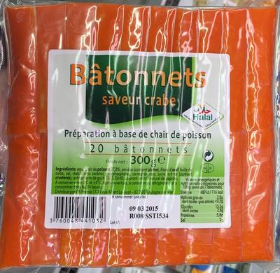 Bâtonnets saveur Crabe Halal - Produit