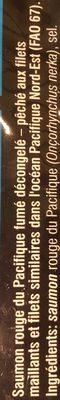 Saumon Fumé Sauvage du Pacifique - Ingrediënten - fr