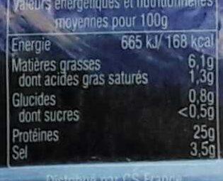 Saumon Fumé Sauvage du Pacifique - Voedingswaarden - fr