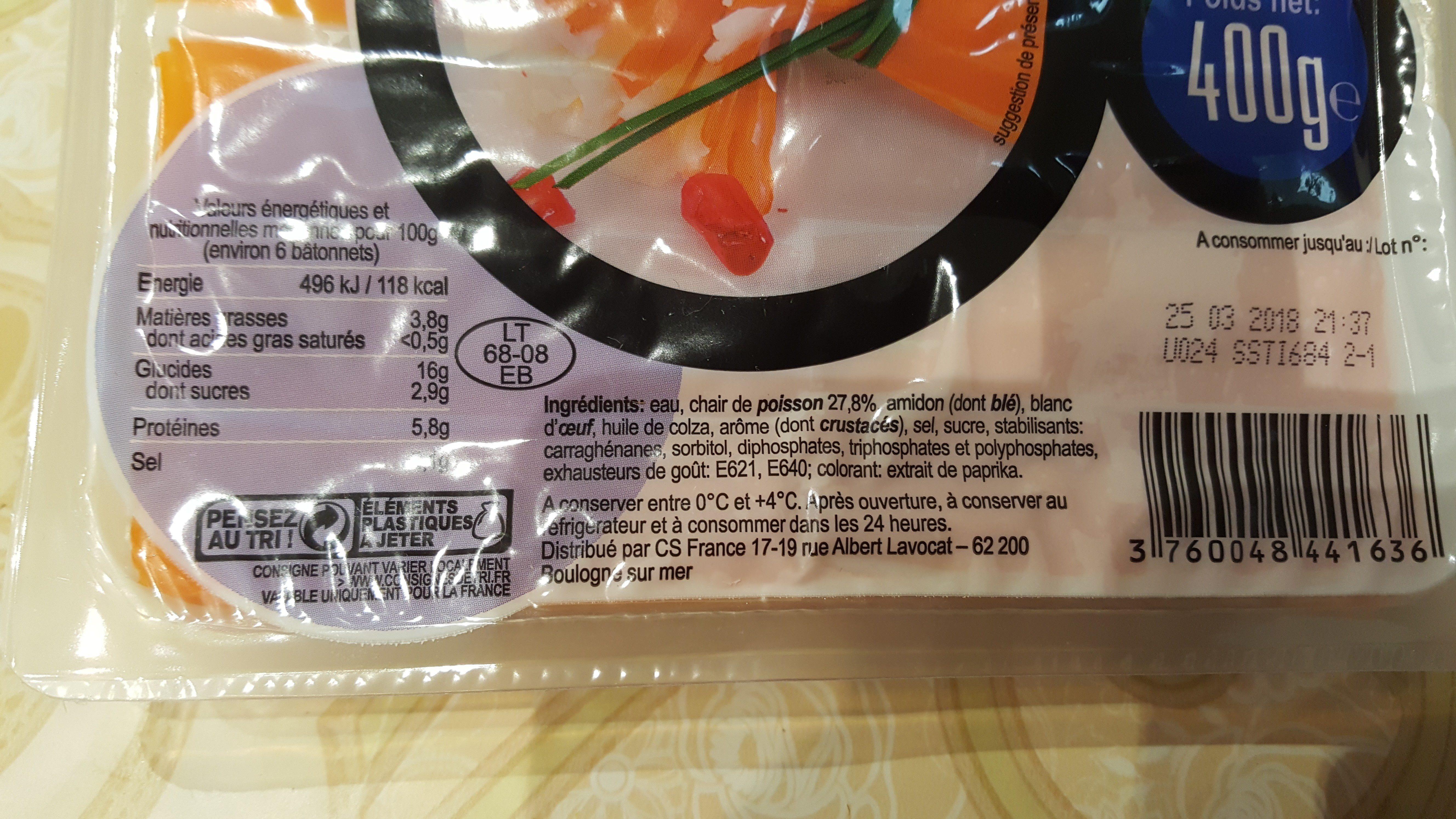 Bâtonnet de surimi - Ingrédients