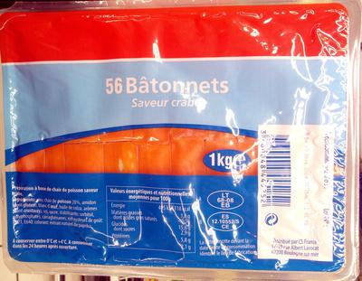 56 bâtonnets saveur crabe - Produit - fr