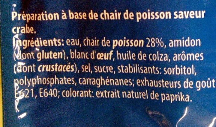 56 bâtonnets saveur crabe - Ingrédients - fr