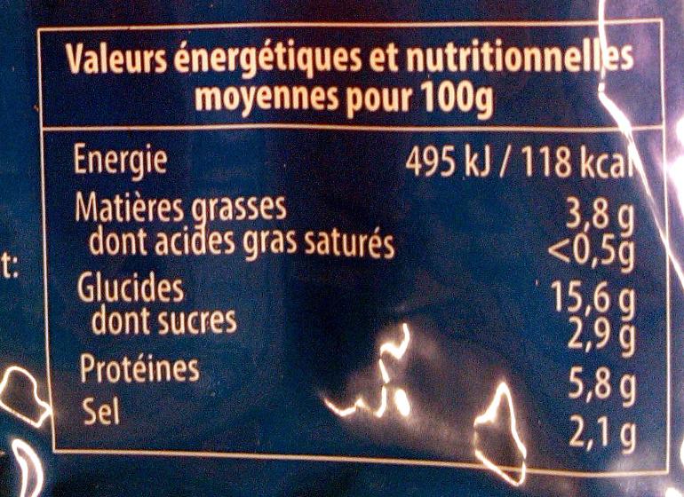 56 bâtonnets saveur crabe - Informations nutritionnelles - fr